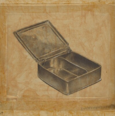 Pewter Box with Two Compartments