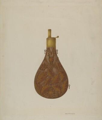 Bronze Powder Flask
