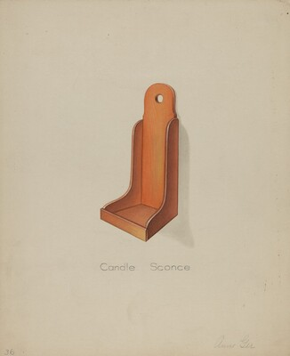 Shaker Candle Sconce