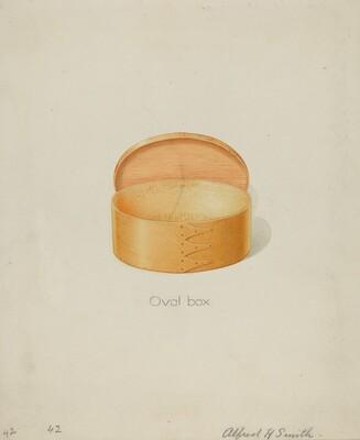 Shaker Oval Box
