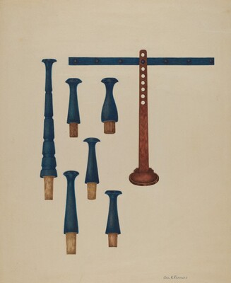 Shaker Pegs and Candlestand