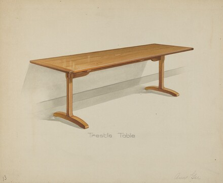 Shaker Trestle Dining Table