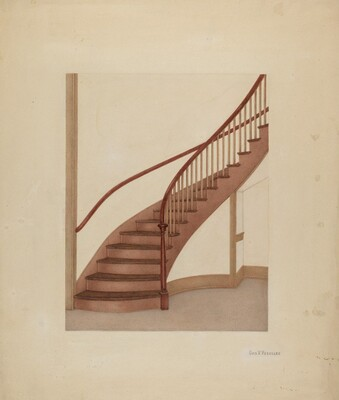 Shaker Spiral Staircase