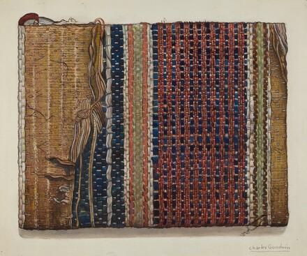 Fragment of Shaker Hall Rug