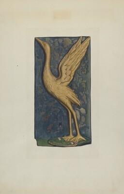 Carved Stork