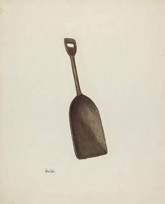 Wooden Grain Shovel