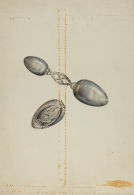 Silver Folding Spoon