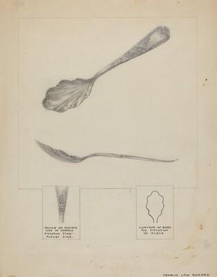 Silver Sugar Spoon