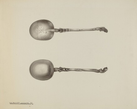 Silver Funeral Spoon