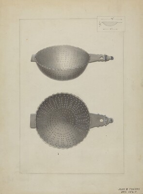 Silver Punch Strainer