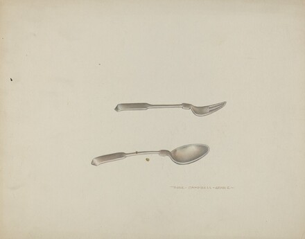 Silver Baby Spoon and Fork
