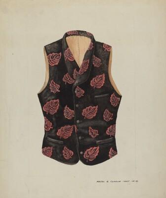 Embroidered Velvet Vest