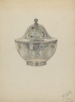 Silver Sugar Bowl with Cover