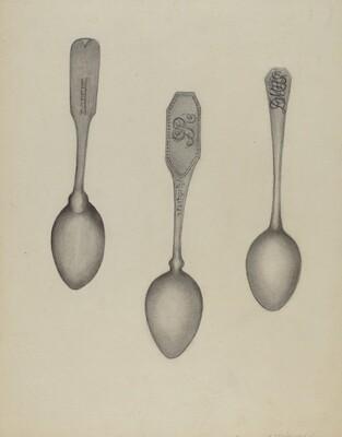 Silver Fiddle Head Spoon
