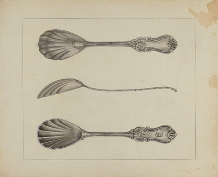 Two Silver Sugar Spoons