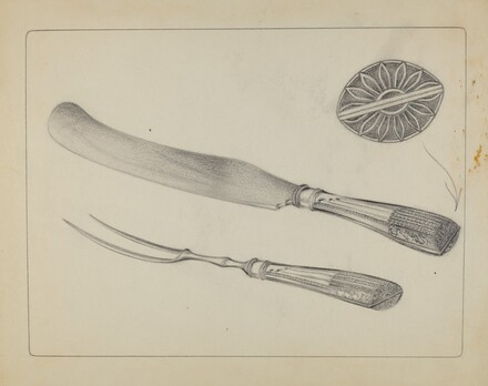 Silver Knife and Fork