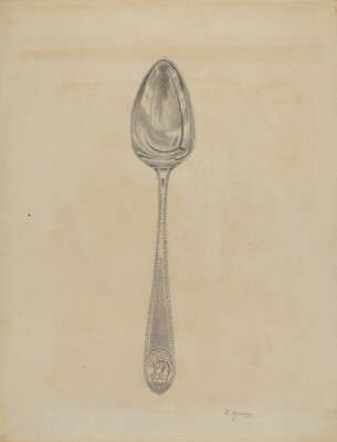 Silver Soup Spoon