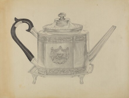Silver Teapot and Tray