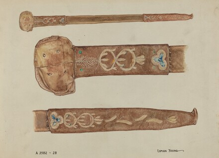 Embroidered Leather Scabbard