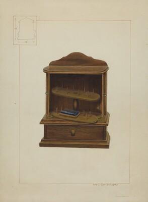 Walnut Spool Cabinet