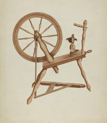 Shaker Flax Spinning Wheel