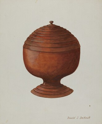 Wood Sugar Bowl