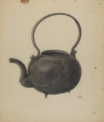 Cast Iron Tea Kettle