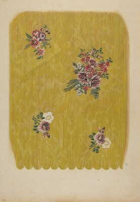 Silk with Embroidered Flowers