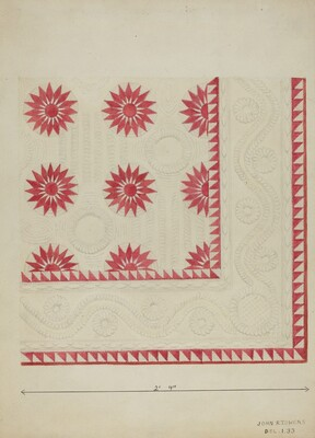Quilted Applique Coverlet
