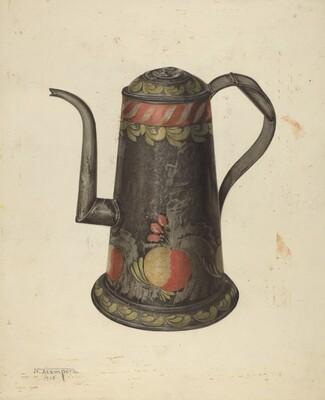 Toleware Coffee Pot