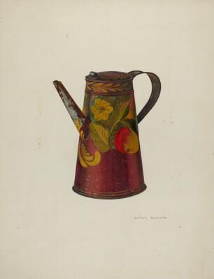 Toleware Teapot