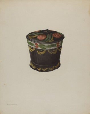 Toleware Sugar Bowl