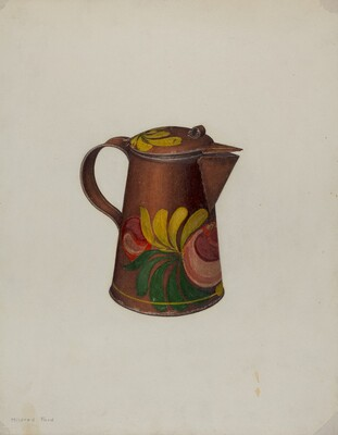 Toleware Syrup Pot