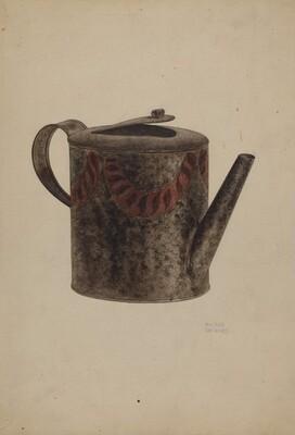 Toleware Metal Teapot