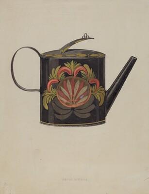 Toleware Tin Coffee Pot