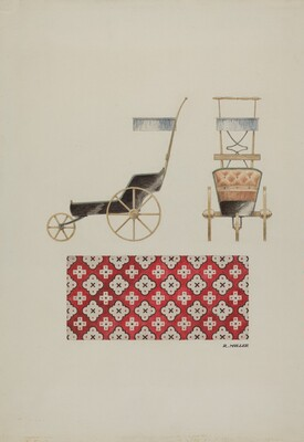 Doll Buggy and Rug