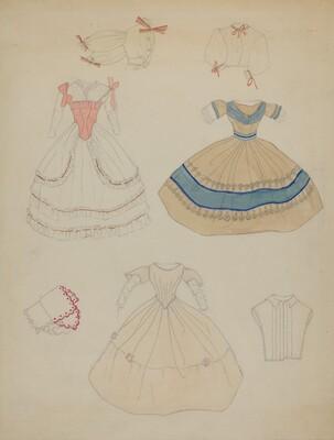 Doll and Wardrobe