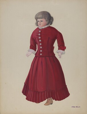 Doll with Grey Wig - Matilda