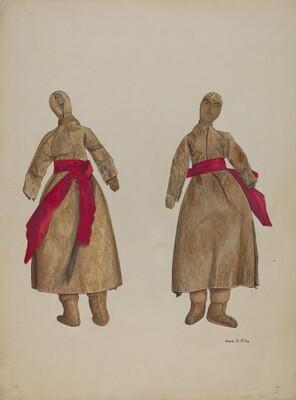 Woman Doll in Buckskin