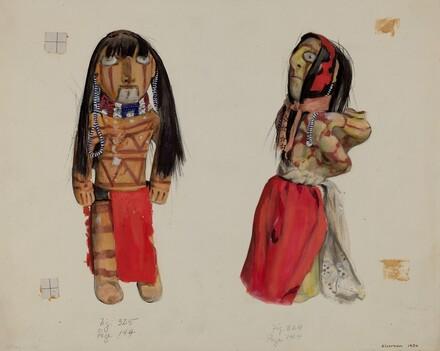Clay Indian Dolls