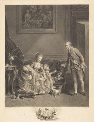 Le duc de Chartres, son epouse et ses enfants