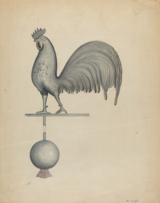 Weather Vane - Iron Rooster