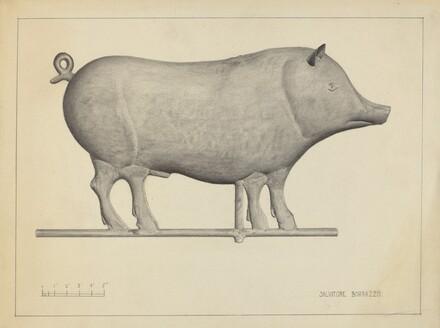 Pig Weather Vane
