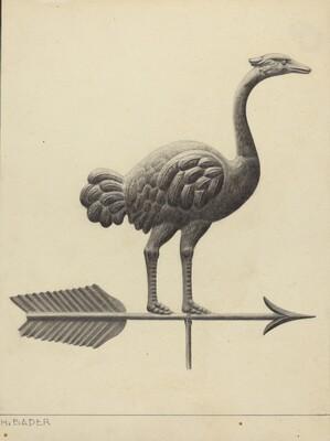 Ostrich Weather Vane