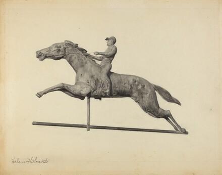 Horse and Rider Weather Vane