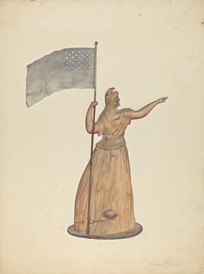 Weather Vane - Goddess of Liberty