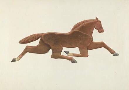 Wooden Horse Weather Vane