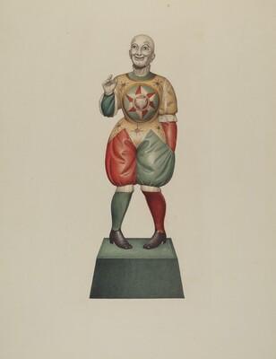 Cigar Store Figure: Clown
