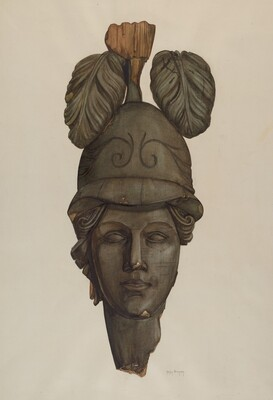 Head from a Statue: Minerva