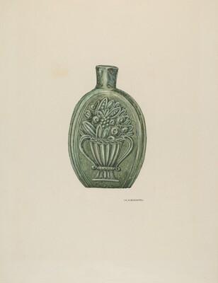 American Glass Flask